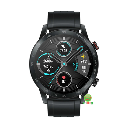 Honor Magic Watch 2 46MM (MNS-B19) Black Fluoroelastomer Strap (Charcoal Black)