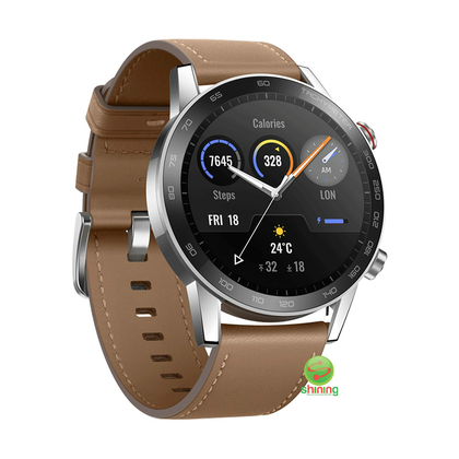 Honor Magic Watch 2 46MM (MNS-B19) Brown Leather Strap (Flax Brown)
