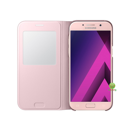 SME (O) S VIEW STANDING COVER GALAXY A5 2017 PINK