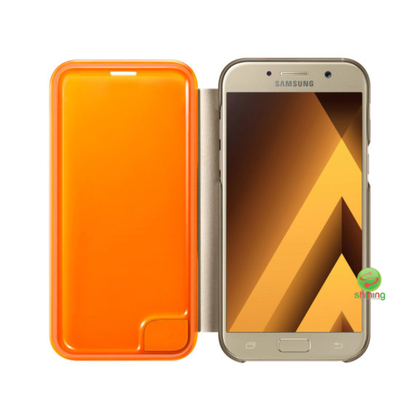 SME (O) NEON FLIP WALLET COVER GALAXY A5 2017 GOLD
