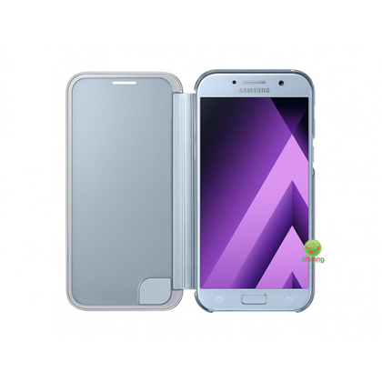 SME (O) CLEAR VIEW FLIP COVER GALAXY A5 2017 BLUE