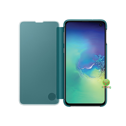 "SME (O) CLEAR VIEW COVER GALAXY S10E 5.8"" GREEN"