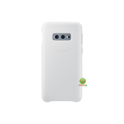 "SME (O) LEATHER COVER GALAXY S10E 5.8"" WHITE"