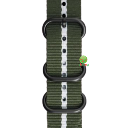 SME (O) GEAR SPORT PREMIUM NATO WATCH STRAP (GREEN/WHITE)