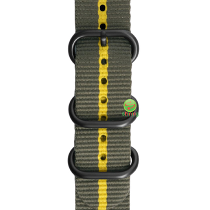 SME (O) GEAR SPORT PREMIUM NATO WATCH STRAP (GREY/YELLOW)