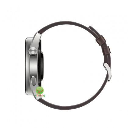 Huawei Watch 3 Pro (GLL-AL01) Brown Leather Strap (Titanium Gray)