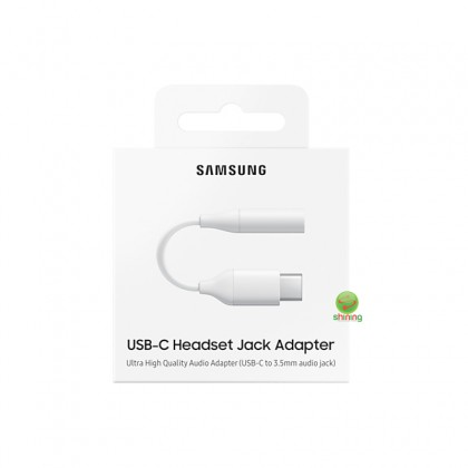 Samsung USB Type C To 3.5mm Headset Jack Adapter White